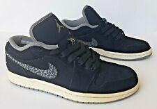 2011 Nike Air Jordan 1 Phat Low Black/Gray Cement (338145-015) Size 8