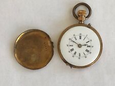 Vintage Louis Jacot Locle Pocket Watch Movement with Back Case for Repair
