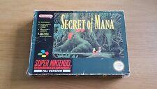 Secret of Mana-Super Nintendo Spiel-SNES-Boxed + Manual