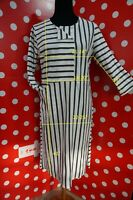 new GUDRUN SJODEN sz M eco organic cotton Dress Stripes  poket