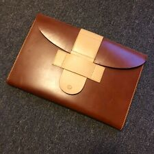 Siamo nati liberi Beige/Brown Calf Skin 13'-15' Laptop Case/Clutch