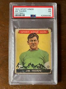 1933 Goudey Sport Kings #6 Jim Thorpe PSA 1