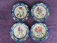 """Certified International Pamela Gladding Flora Salad Plates 8.5"""" Set of 4"""