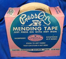 VTG 1940'S PRESS ON (with iron) MENDING TAPE CRAFTS, UNUSED iob,nos GRT DISPLAY