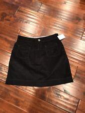 Athleta Black Thin Wale A-Line Athletic Skirt, Size 6