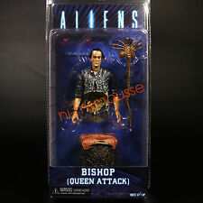 "NECA Aliens Bishop Queen Attack Damaged 7"" Action Figure Alien Series 5 Doll"