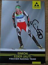 Handsignierte AK Autogrammkarte SIMON EDER Team Österreich Biathlon Saison 2017