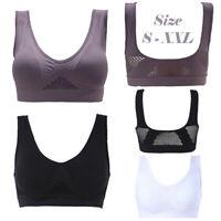 Women Padded Sports Bra Crop Top Running Yoga Fitness Sport Seamless Vest