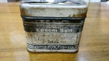 Vintage Tin of Rexall Puretest Epsom Salt