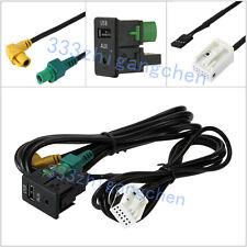 AUX USB Einbau Kabel Stecker Adapter Auto Radio´s für VW RCD300 RCD310 RCD510 DE