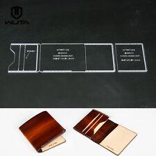 WUTA 867 DIY Card Case Leather Template Handmade Cash Holder Acrylic Pattern Set