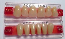 Acrylic False Teeth @Dentures. Accutone,shade65,upper & lower Anterior A26 Set