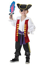 THE WIGGLES CAPTAIN FEATHERSWORD PIRATE HALLOWEEN COSTUME TODDLER SIZE LARGE 4-6