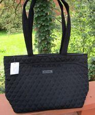 VERA BRADLEY Mandy Tote Bag Classic Black Sturdy Microfiber NEW TAGS