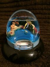 Kids coral reef water globe with clock