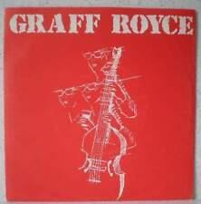 "GRAFF ROYCE Women, alcohol, rock & roll RARE 7"" 1985 minimal synth/wave BELGIUM"