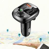 Bluetooth Car FM Transmitter Freisprecheinrichtung Adapter USB Charger E4P4