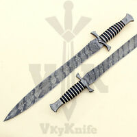 "Handmade Damascus Steel Sword Knife 24.5"" Micarta Handle VK9002"