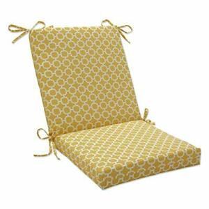 Pillow Perfect Outdoor/Indoor Hockley Banana Square Corner Chair Cushion 36.5...