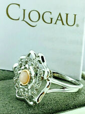 Clogau Gold Sterling Silver & 9ct Rose Gold Tudor Rose Opal Ring - Size L £129