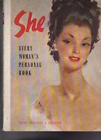 She Every Woman's Personal Book 1947 Odhams Press Fashion