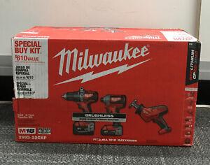 Milwaukee 2893-22CXP M18 3-Tool Combo Kit NEW