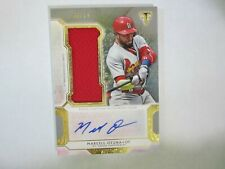 2018 Triple Threads # UAJR-MAR Marcell Ozuna Autograph Signed Jumbo Relic Card
