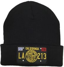 City Of Los Angeles Seal Knit Beanie Black