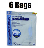 (6) Style F Bags for Kirby Vacuum Allergen Reduction Universal Fit 413160