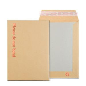 Board Back Backed Envelope Cardboard Brown Do Not Bend Envelopes Pack of 100