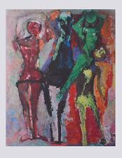 Marino Marini Kunstdruck Poster Bild Lichtdruck Pferd mit Gauklern 90x70 cm