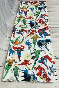 Pottery Barn Kids DC Comics 2015 Twin Size Flat Sheet Aqua Man, Flash, Superman