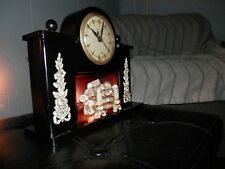 United Fireplace Mantel Clock Model #419 Electric Clock Vintage 1940s - Working
