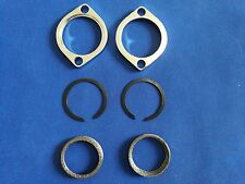 Chrome Exhaust Flange Kit With Tapered Gaskets For Harley Evolution 1984-Up