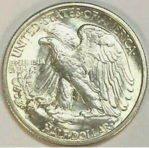 """1944-S Walking Half Dollar 50C """"Lustrous""""  White . MS-BU"""
