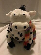 GUND Silly Farm Animal Stuffed Plush LILY COW Striped Knit Scarf 46626 HO'08 #3