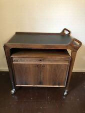 Rare Mid Century DRYLUND Danish Rosewood Executive Office Trolley Sideboard
