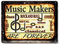 MUSIC STUDIO metal sign BLUES rock COUNTRY R&B gospel vintage style decor 052