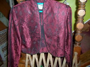 NWT Cloak of Many Colors Gorgeous Brocade Skirt Suit - Size 4