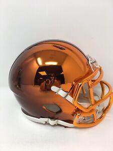 Browns custom two tone CHROME  riddell speed mini helmet