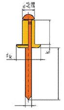 20 CF/BR 3x12 Kupfer Bronze Blindnieten Klemmt 6,5-9mm