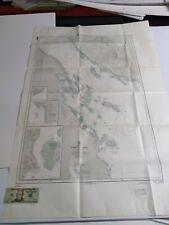 Antique Vintage Navy Nautical Chart Aeronautical Map   Strait Of Jubal   Red Sea
