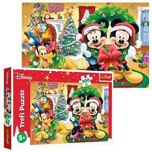 Trefl 100 Piece Kids Large Magic Of Christmas Disney Characters Jigsaw Puzzle