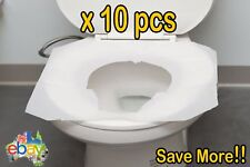 10x Toilet Seat Covers Paper Travel Biodegradable Disposable Sanitary Hygiene SY