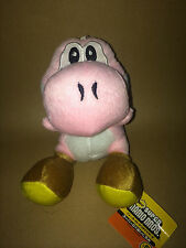 Super Mario Plush Teddy - Pink Yoshi Soft Toy - size 17.5cm- NEW