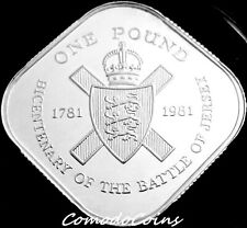 More details for 1981 jersey £1 one pound coin silver proof 200th of battle of jersey coa & box