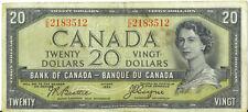 Bank of Canada 1954 $20 Twenty Dollars Devil's Face Beattie- Coyne Fine+