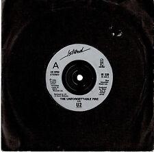 """U2 - THE UNFORGETTABLE FIRE - RARE 7"""" 45 VINYL RECORD 1984"""