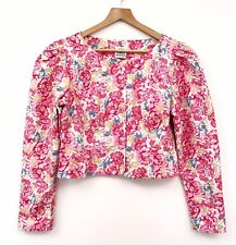Vintage Laura Ashley Floral Jacket 12 14 16 100% Cotton Blogger Quirky (8)