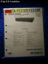 Sony Service Manual TA FE310R /FE510R Amplifier (#4133)